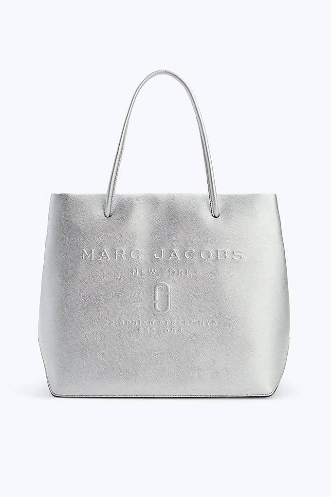 5129b2e5ec23 Marc Jacobs Logo Shopper in Silver