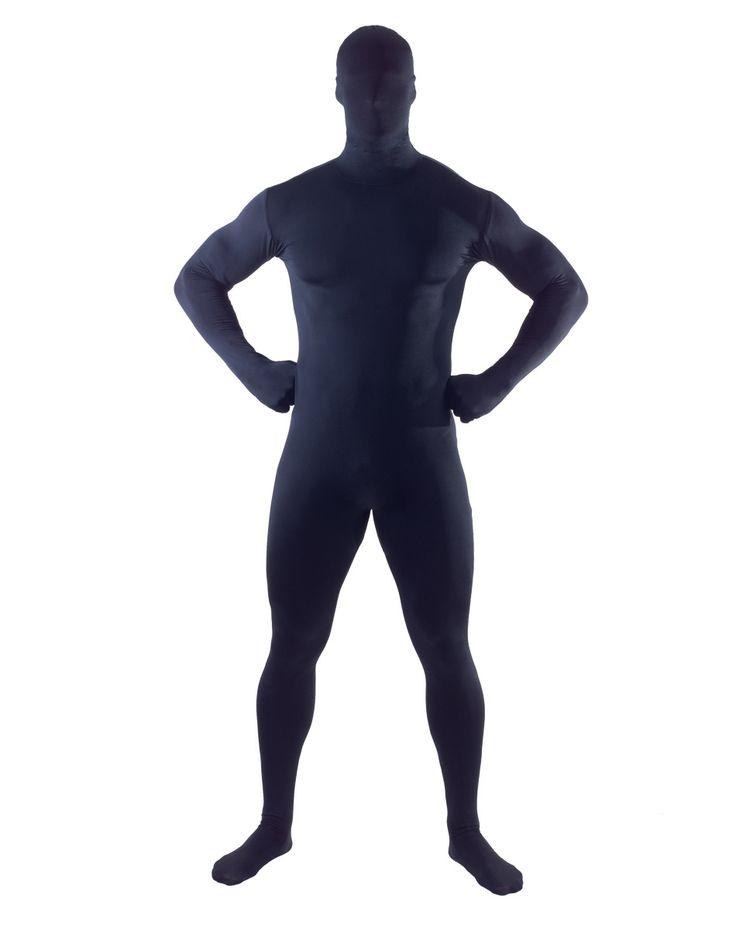 Super Skins® Black Zentai Adult Mens Bodysuit – Spirit Halloween