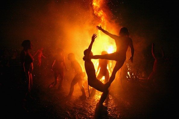 witches skyclad | ... skyclad Witches would jump through the flames to ensure protection