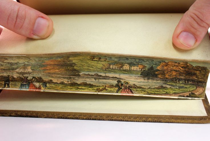 Stunning, Tiny Paintings Found On Vintage Books (IMAGES): Old Book, Fore Edge Paintings, Foreedg Paintings, Art, 19Th Century, Book Pages, Secret Fore Edge, Century Book, Universe Of Iowa