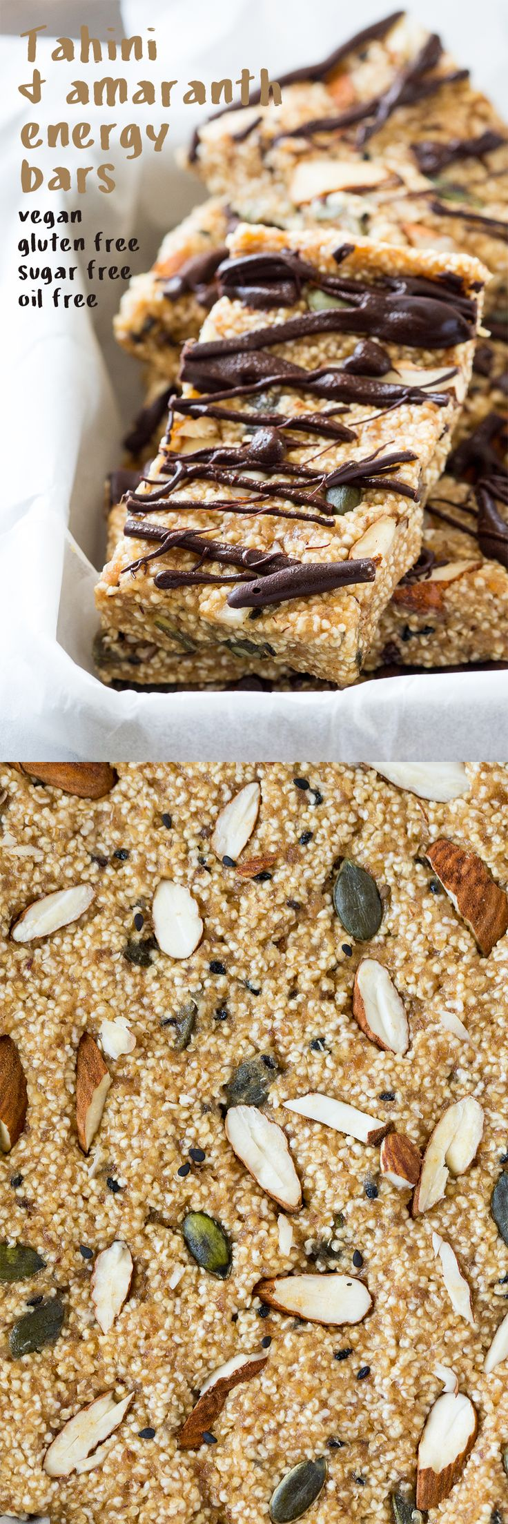 Tahini and amaranth energy bars