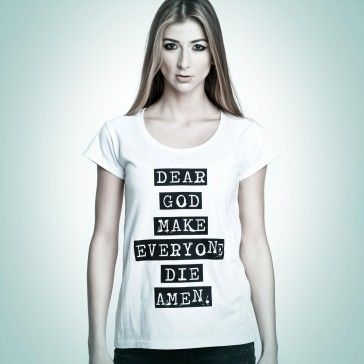 Dear God #tshirt from #PornCorn. #Awesome #tshirts by #NOH8 Syndicate! Be #original and in #fashion!