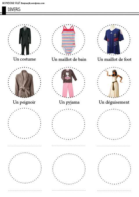 Vêtements divers