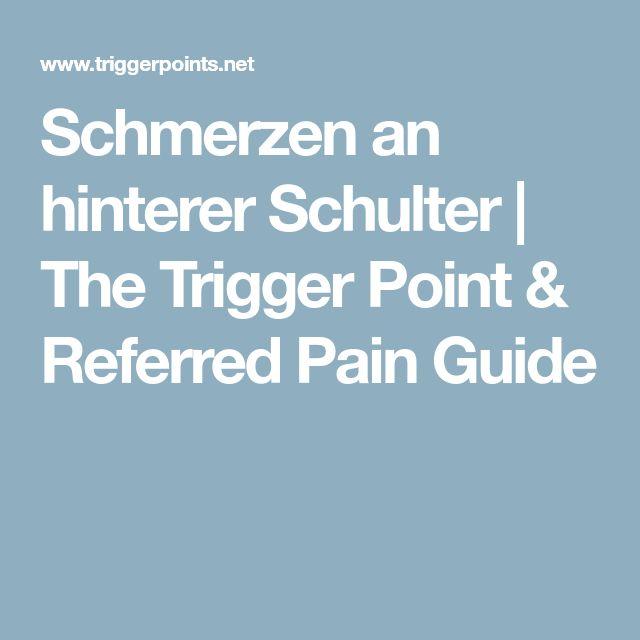 Schmerzen an hinterer Schulter | The Trigger Point & Referred Pain Guide