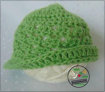 Made by Szela: Wiosenno-jesienna czapka dla małej elegantki