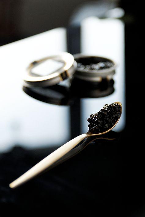 Pain perdu au corail d'oursin, céleri rave acidulé et caviar by Kaviari (Caviar Box) | La cuisine de Josie