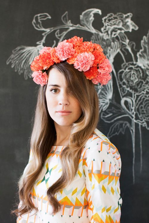 How to make a flower crown from carnations
