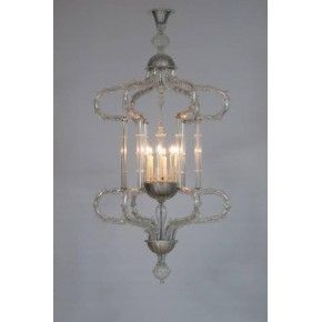 "Italian ""Cesendello"" Chandelier in Murano Glass"