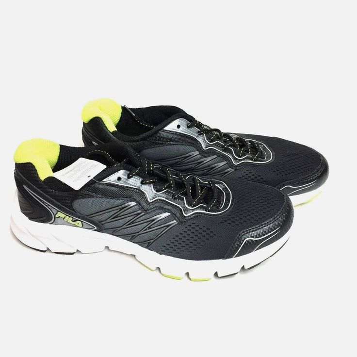 5b46a3cfdb77 Fila Mens Indus Running Athletic Shoes Coolmax Lining Fabric Sneakers 10 NEW