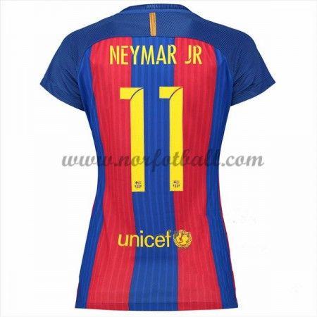 Draktsett Fotball Barcelona 2016-17 Neymar Jr 11 Dame Hjemme Fotballdrakter Kortermet