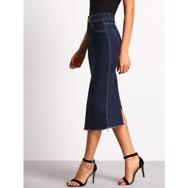 Best 25  Long denim skirts ideas on Pinterest | Maxi denim skirts ...