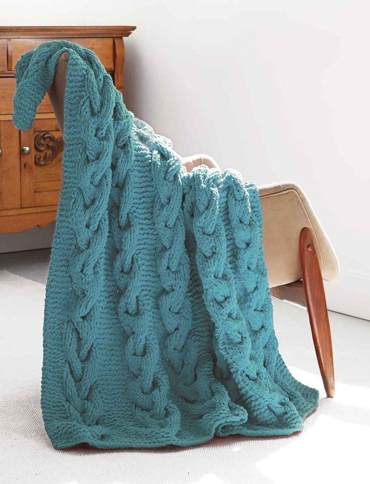 Yarnspirations.com - Bernat Cable Afghan - Patterns ...