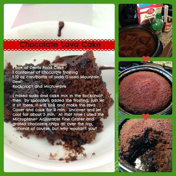 Chocolate Lava Cake in Rock Crock