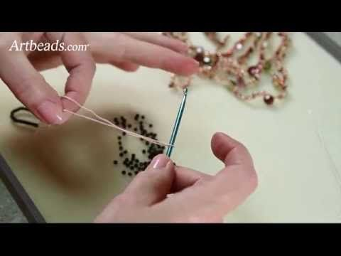 Simple Crochet with Beads Video Tutorial