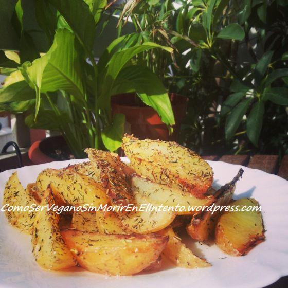 Patatas gajo al horno con tomillo y romero