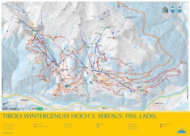 Langlaufen Serfaus-Fiss-Ladis - appartement & ski-chalet aan de piste in Serfaus-Fiss-Ladis - loipen