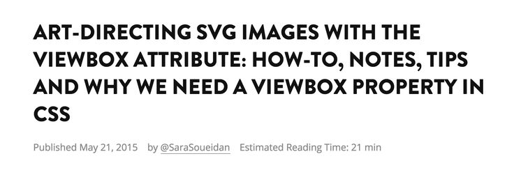 Art-Directing SVG Images With The viewBox Attribute: How-To, Notes, Tips and Why We Need A viewBox Property in CSS