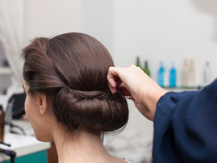 the Princess Roll Updo A special-occasion style for shoulder-length to long hair