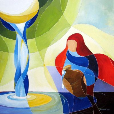 Levend water (De Samaritaanse vrouw) - Anneke Bollebakker
