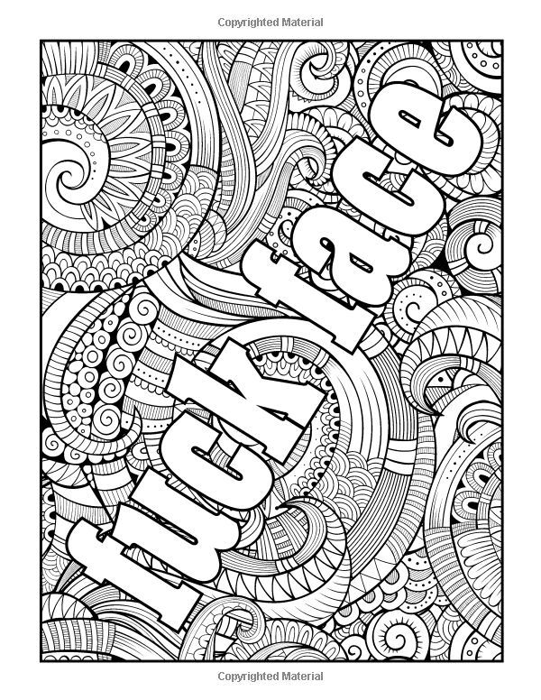 swear word stress relieving coloring book 37 funny swearing and cursing designs for angry people curse word coloring books volume - Adult Coloring Pages