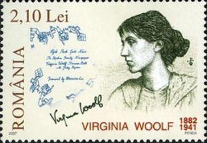 virginia woolf     stamp     romania