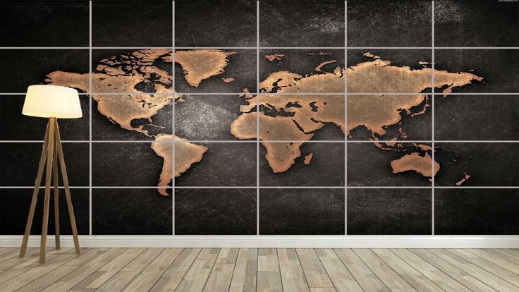 WORLD MAP CARTE DU MONDE Design Style XXL Poster Home Deco Salon 252cmX150