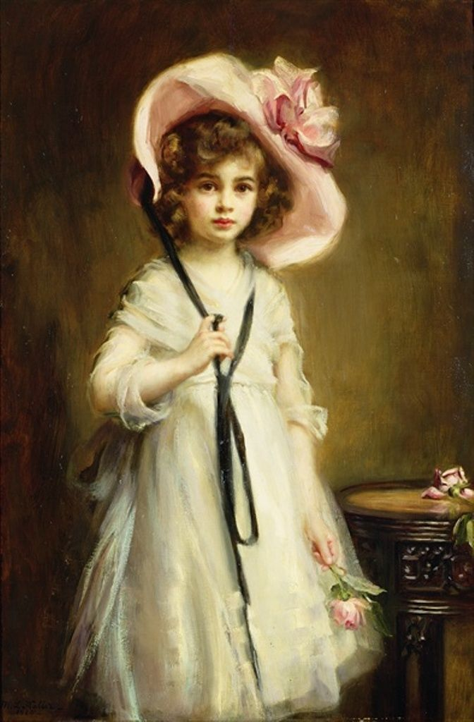 Victorian Lady In A Rose Hat Painting by Sue Halstenberg  Victorian Painting Portrait Artists