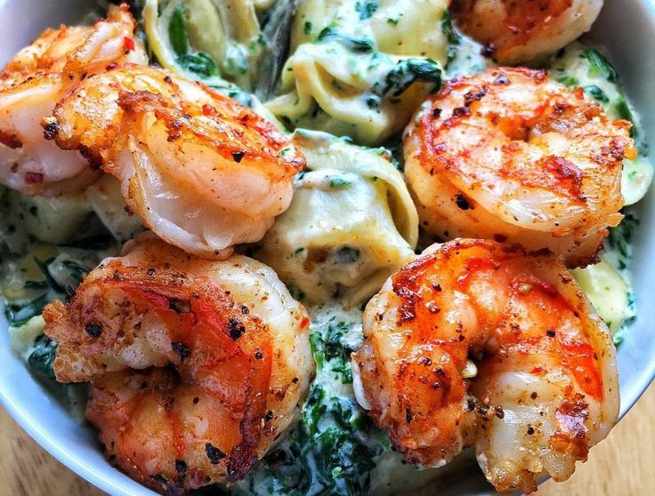A food coma is torturous. But if it came as a result of indulging in dishes like this rich shrimp creamed spinach tortellini, food coma is glorious.