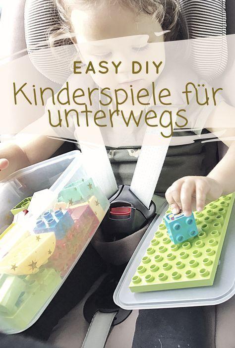 Top 5 Kinder Reisespiele für eine entspannte Reise. Endlich entspannt im Urlaub ankommen. Kinder Reise Gadgets ganz einfach selbst gemacht - DIY!