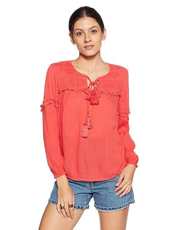 Amazon Brand - Symbol Women s Plain Loose Fit Top Symbol s wide range of  smart updated blouses f4dc1c573
