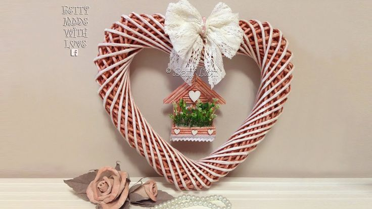 Tutorial Ghirlanda cuore con cannucce di carta