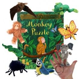 Monkey Puzzle Book with Finger Puppets