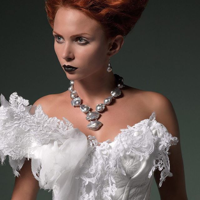 Collana perle barocche grigie #collezione Nordike#dellaroveregioielli #madeinitaly #gioielliunici#gioielliinpietredure #