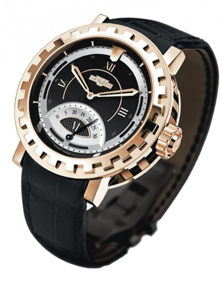DeWitt AC.1102.53.M040 Academia Seconde Retrograde Serenity - швейцарские мужские наручные часы - золотые, черные