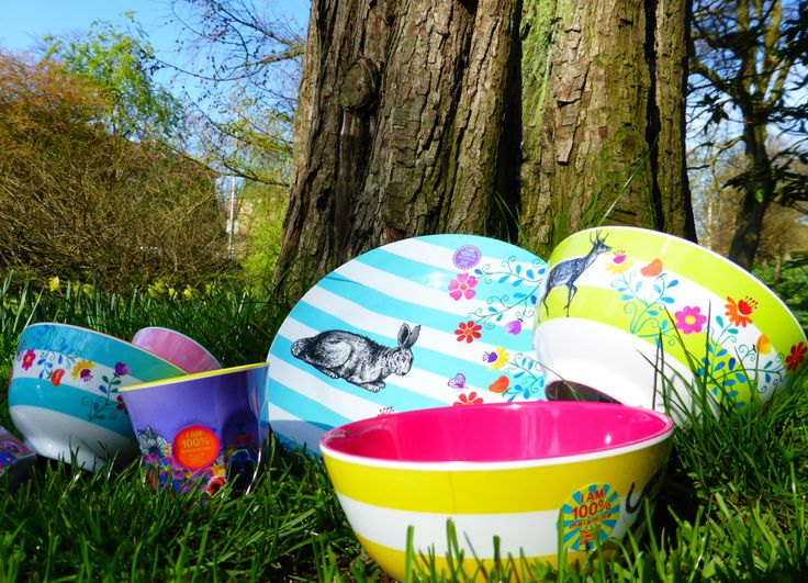 Melamine Bowls & Plates in super cute designs!