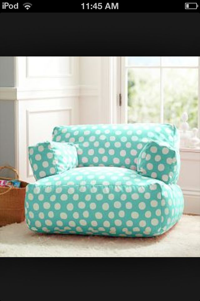 pb teencute and comfortable chair for a girls bedroom