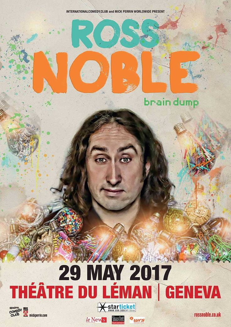 ENGLISH-SPEAKING COMEDY: ROSS NOBLE, BRAIN DUMP, GENEVA, 29 May 2017