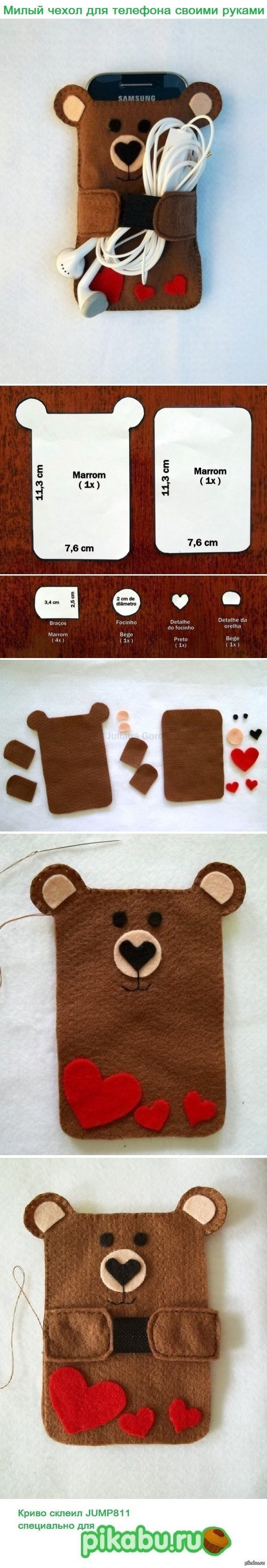 Cute Teddy Bear Smartphone / Cellphone holder :)