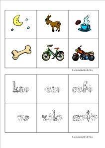 loto associer des mots écrits en alphas et images pour période 5