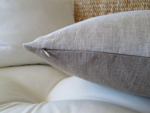 Linen Pillow Cover, 20 x 20 inch, 18 x 18, Natural Linen, Fall Pillow, Couch Pillow, Solid Pillow Cover, Minimalist Pillow, Modern Pillow