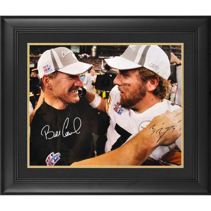 "Ben Roethlisberger, Bill Cowher Pittsburgh Steelers Fanatics Authentic Framed Autographed 16"" x 20"" Super Bowl XL Photograph"