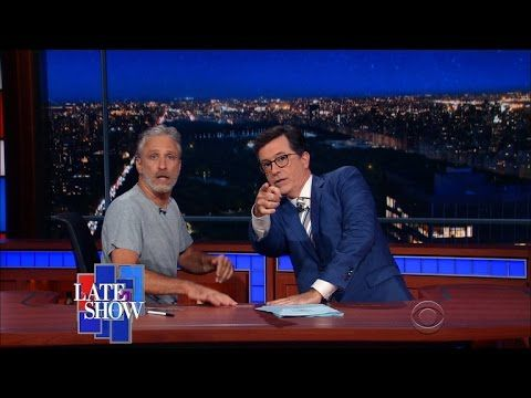 Jon Stewart Takes Over Stephen Colbert's Late Show Desk to Talk About the Presidential Election, 7/16