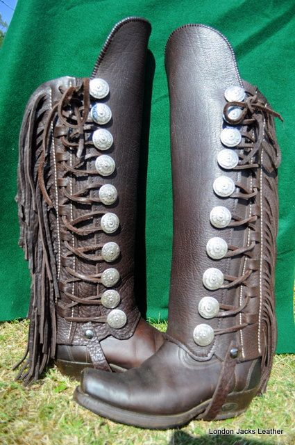 I think Benson would love these fringed boot chaps.