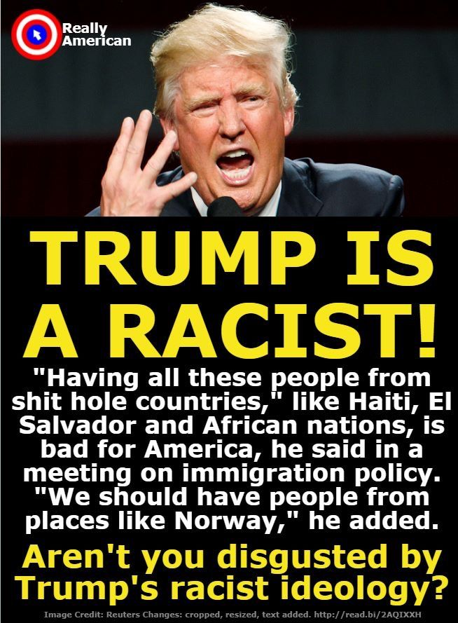 If not, YOU are UnAmerican!!!! OH BUT NOW ALL THE REPUBLICANS THERE THAT HEARD HIM SAY IT ARE DENYING IT!! SHAME YOU ON THEM!! TRUMP IS WORTHLESS AND SO ARE THEY!! NASTY MAN!!