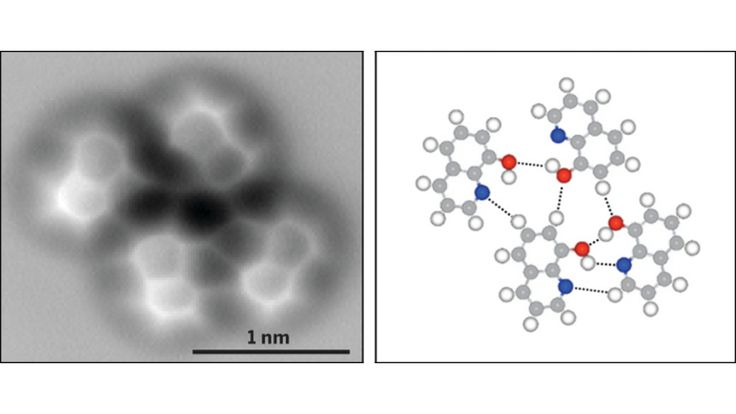 Using a technique called high-resolution atomic force microscopy (AFM), researchers in China have visualized the molecular structure of a hydrogen bond.