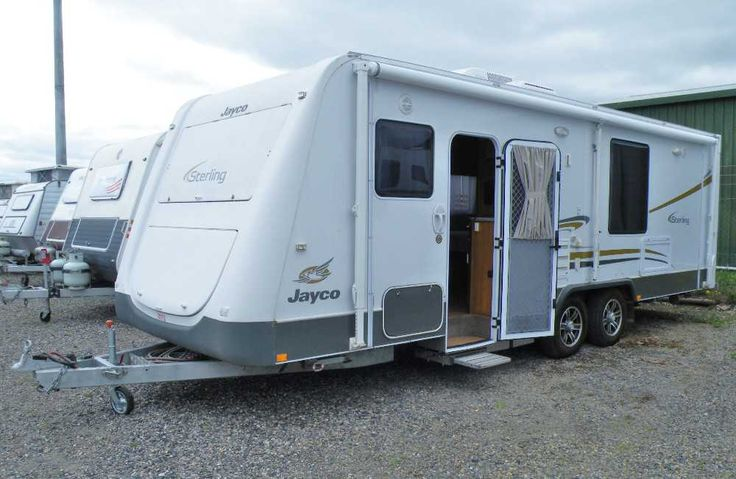 "2011 Jayco Sterling 24'7"", dual axle, 12v slide out step, front club lounge, central kitchen includes 4 burner cook-top 3 x gas + 1 x electric, grill, rangehood, large draws feature here, Large 3 way fridge with separate freezer, through to the bedroom which has a slide out giving you the clear space to walk around the east/west bed, TV/DVD player, radio with inside and outside speakers,full bathroom with washing machine, curved shower, vanity, toilet and heaps of storage cupboards..."