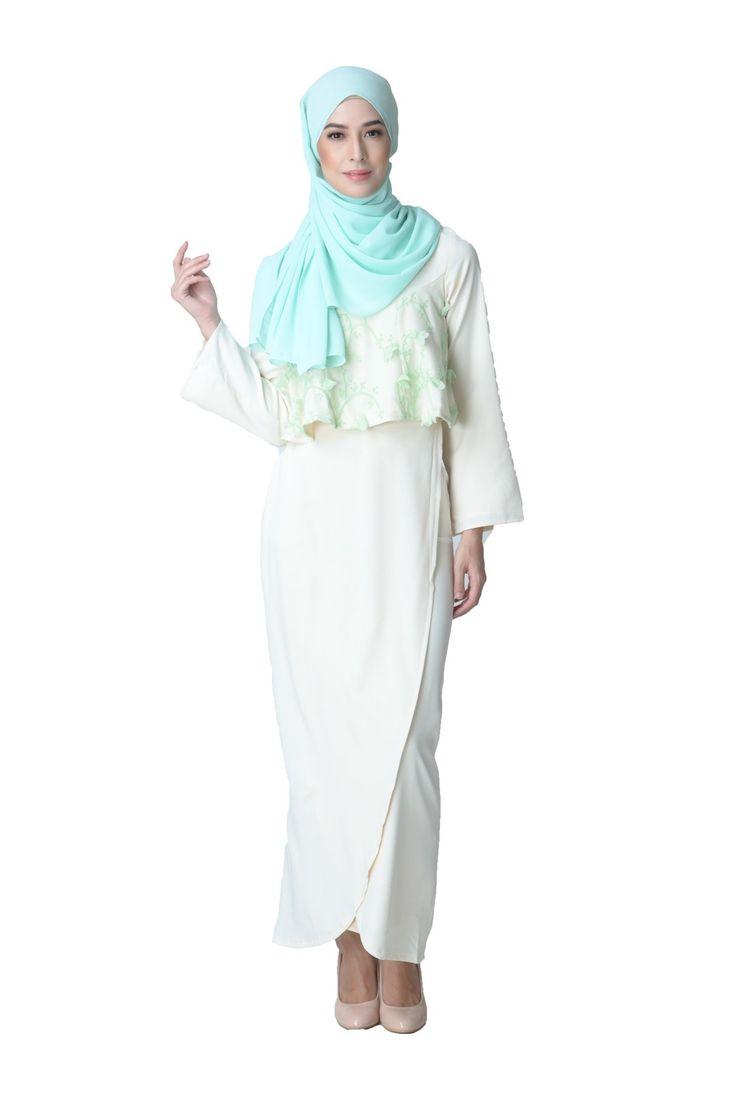 Floral Fanfare Baju Kurung Moden - Brown - Free Shipping - Zolace.com