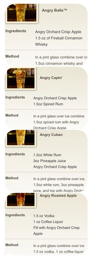 Angry Orchard Cocktails