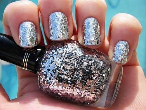 glittery: Silver Glitter, Pink Sparkle, Nails Art, Pink Nails, Sparkle Nails, Glitter Nails, Nails Polish, Sparkly Nails, Glitternail