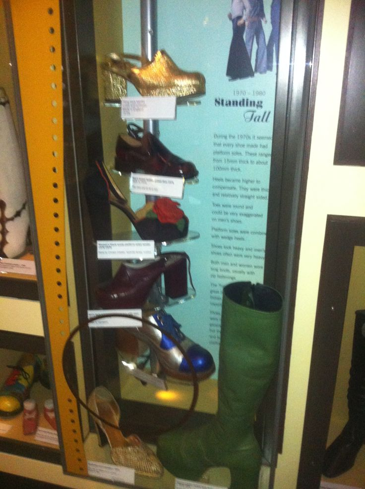 Variety of shoes on the stand